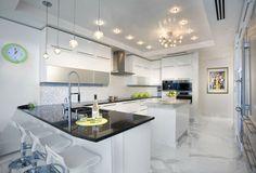 barra preciosa en la cocina moderna