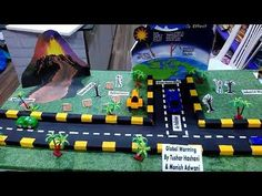 Project on Global Warming Science Exhibition Projects, Science Project Models, Science Models, Science Fair Projects, Science Experiments Kids, School Projects, Teaching Science, Air Pollution Project, Global Warming Project