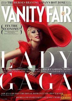 Lady Gaga cover photo by Annie Leibovitz for Vanity Fair Jan 2012.