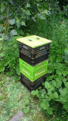 milk crate composter