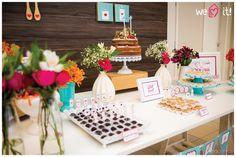 Chá de cozinha colorido   Inspiração e ideias lindas para um chá de cozinha cheio de cor pink + turquesa + laranja