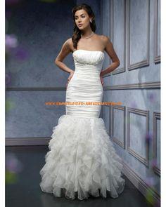 Bodenlange sexy Brautmode im Meerjungfrauenstil aus Organza online 2013