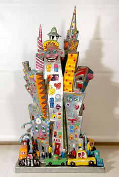 James Rizzi New York is My Castle Sculpture