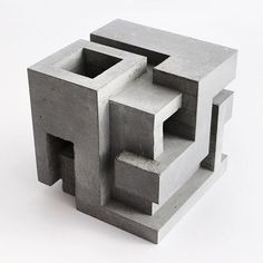 Cubic Geometry ix-vi Concrete sculpture 9 x 9 x 9 in Edition of 3  #brutalism #contemporarysculpture #contemporaryart #artchitecture #concrete