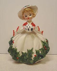 Vintage Relpo Christmas Lady Planter Japan | eBay