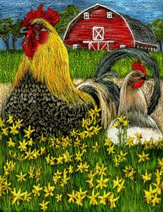 impressionism paintings with red barn - Yahoo Image Search Results