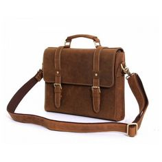 Fully Grained Leather Messenger Bags for mens Brown Leather Messenger Bag, Messenger Bag Men, Big Suitcases, Casual Meeting, Leather Bags Handmade, Cowhide Leather, Laptop Bag, Leather Handbags, Shoulder Strap