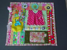 Polka Dots and Posies Fidget Quilt Tactile by EndearingDignite, $40.00