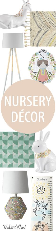Pamper your baby's nursery with The Land of Nod's amazing lineup of exclusive decor. Soothing colors and whimsical animals will add a sweet yet stylish touch.