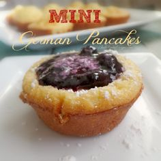 Mini German Pancakes Recipe filled with Berry Sauce
