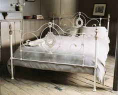 scarlett wrought iron headboardfootboard products pinterest products - White Iron Bed Frame Queen