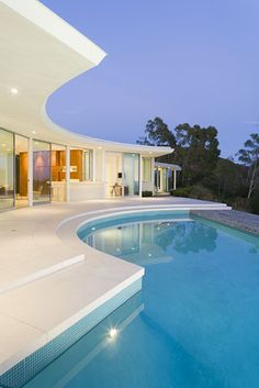 The pool at hair stylist Sally Hershberger's Beverly Hills home