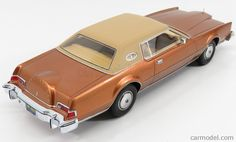 BoS-MODELS BOS244 Scale 1/18  LINCOLN CONTINENTAL MARK IV LEXUS 1974 COPPER MET BEIGE