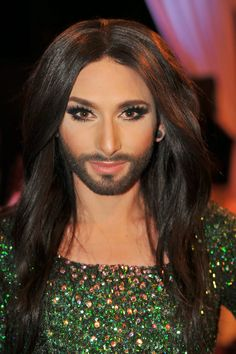 crossdresser makeup with beard, genderfuck? Freedom to be what you are!