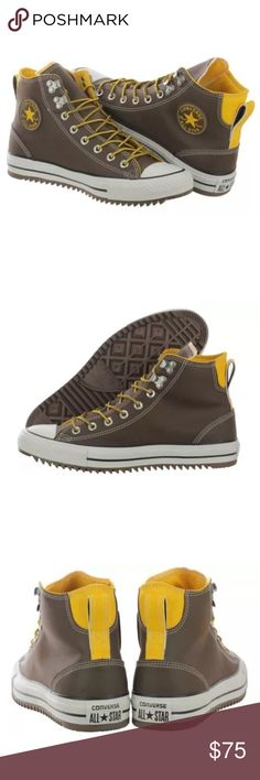 Adidas Men's CT City Hiker Sneakers Brand new in box. Never even tried on. All leather. Brown exterior with yellow accents. This classic is a must have. Size 11.5. Waterproof. *box no lid adidas Shoes Athletic Shoes