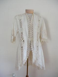 Vintage Antique Edwardian Victorian Lace and by vintagepursona, $475.00