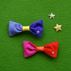 color-block bow clip