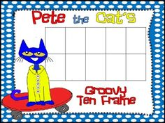 This free product includes a Pete the Cat 10 frame, 5 frame and double 10 frame, as well as a Pete the Cat on a skateboard color by number.  It cor...
