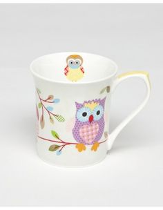Ashdene - Miss Peacock Hoot Mug Peacock, Owl, Mugs, Tableware, Dinnerware, Peafowl, Tablewares, Owls, Mug