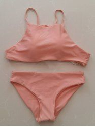 Chic Women's Pink Halter Tankini Suit (PINK,XL) | Sammydress.com Mobile