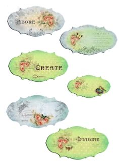 Free downloads of some very beautiful graphics! They include stationary, book marks, tags and more!