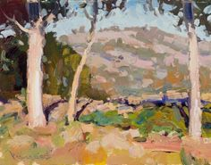 """Eucalyptus Trunks""   11x14 plein air oil on canvvas   Anton Pavlenko   www.antonpavlenko.com"