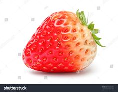 Beautiful Fresh Strawberry Isolated on White Background with Clipping Path. Botanical Art, Strawberry, Sweets, Watercolor, Fresh, Painting, Draw, Image, Beautiful