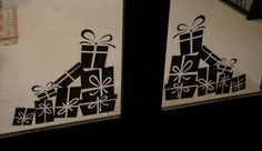 Christmas Presents Silhouette Christmas Static Clings