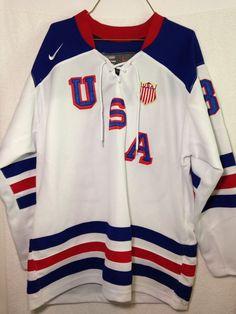 Patrick Kane Nike Bauer NHL Mens USA Olympics Hockey Player Jersey Large #NikeBauer