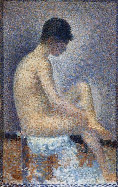 Georges Seurat, Seated Female Nude, 1886-87, Oil on panel, 25 x 16 cm, Musée d'Orsay, Paris