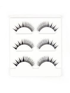 SheIn - SheIn Asymmetrical False Eyelash 3pairs - AdoreWe.com