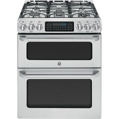 GE Cafe™ Series 6.7 cu. ft. Freestanding Gas Range w/ Double Convection Oven - Stainless Steel
