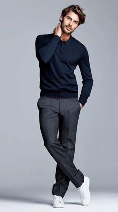 Mens winter fashion - 26 cool men's casual fashion style 9 Mode Masculine, Smart Casual Menswear, Men Casual, Mens Smart Casual Fashion, Smart Casual Man, Casual Styles, Smart Style Men, Herren Outfit, Business Casual Outfits