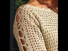 SWEATER a crochet (jersey, saco, suéter, pullover)   How to crochet a SWEATER - YouTube