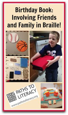 A mother shares ideas for making tactile books with family and friends to celebrate the birthday of her 5-year-old son, who is deafblind.
