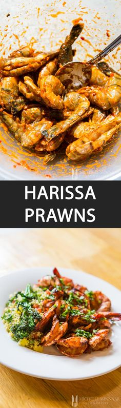 Harrisa Prawns - {NEW RECIPE} Harissa Prawns are easy to prepare. Clean the shrimp then marinate in harissa paste for 1 hour before pan-frying, grilling or cooking them in @Tefal Actifry. #SlimmersSecret #sp
