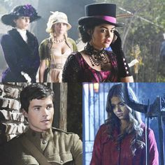 """'Pretty Little Liars' Halloween Recap: The Girls Receive A Dark Warning -- their """"period"""" costumes are wildly inaccurate, but kinda work for steampunk."""