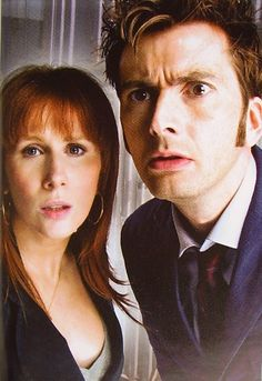 The Tenth Doctor and Donna Noble David Tennant and Catherine Tate I Am The Doctor, Doctor Who 10, 10th Doctor, Matt Smith, Geronimo, David Tennant, Science Fiction, Catherine Tate, Cinema Tv