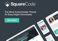 Wordpress Theme Shop Digital Download Store  Are you looking for the best WordPress theme for Easy Digital Downloads?  Squarecode WordPress theme for Easy Digital Downloads allows you to easily create your own digital downloads store or even a full marketplace for selling digital products using the Front End Submissions add-on for EDD. No other EDD theme offers the customization flexibility that this theme offers making SquareCode your best choice WordPress theme for Easy Digital Downloads…