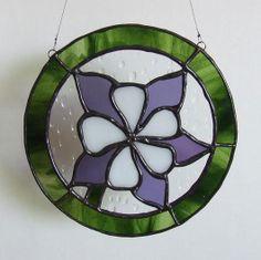 Colorado Columbine - Ladybug Stained Glass