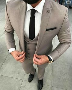 Black and brown designer suits for the modern man. buy designer mens suits online, mens designer suit outlet, click visit link above for more options Best Suits For Men, Cool Suits, Mens Fashion Suits, Mens Suits, Fashion Vest, Suit Men, Fashion Hoodies, Womens Fashion, Trendy Fashion