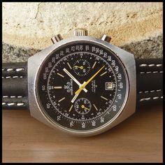 1970s MEISTER ANKER Swiss Vintage Sport Chronograph Watch 17j HW Valjoux Cal. 7734 | eBay