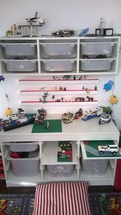 Lego zone, storage, ikea trofast, ideas.