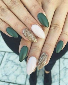 36 Perfect and Outstanding Nail Designs for Winter dark color nails; nude and 36 Perfect and Outstanding Nail Designs for Winter dark color nails; nude and sparkle nails; Dark Color Nails, Gray Nails, Pink Nail, Dark Green Nails, Green Nail Art, Dark Nail Art, Blue Gel Nails, Gradient Nails, Holographic Nails