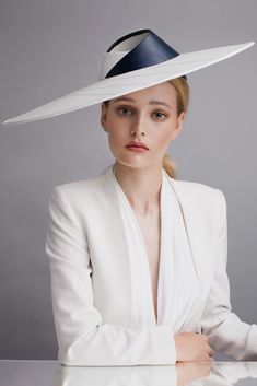 Sophie Beale Millinery | Folded Glass Fedora | White and Fedora Hats | LOVEHATS.COM