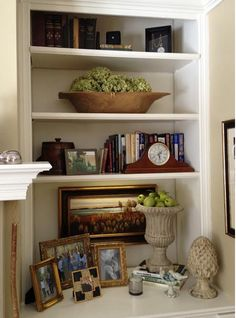 The Enchanted Home Love contest and a wonderful prize! - The Enchanted Home Styling Bookshelves, Decorating Bookshelves, Built In Bookcase, Bookcases, Library Shelves, Bookshelf Plans, Book Shelves, Living Room Bookcase, My Living Room