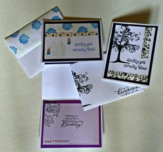 Birthday bundle Set of 5 birthday cards by Taylormadecards4u