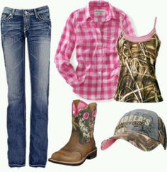 Country girl fashion Love this pink camo outfit so MUCH! Country Girl Outfits, Country Girl Style, Country Fashion, Country Girls, My Style, Country Wear, Country Life, Country Chic, Country Dates