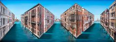 The work of London-based artist, Patrick Hughes Venice Painting, Mixed Media Photography, Perspective Art, Middle School Art, Bel Air, Optical Illusions, Artsy Fartsy, 3 D, British
