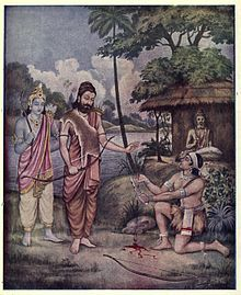 In Mahabharata, Drona tells his son that education is for everyone and that they cannot close the doors of education on anyone. He claims he took Eklavya's right thumb as he did not get his education in the right way but stole his education by watching Drona teach others.